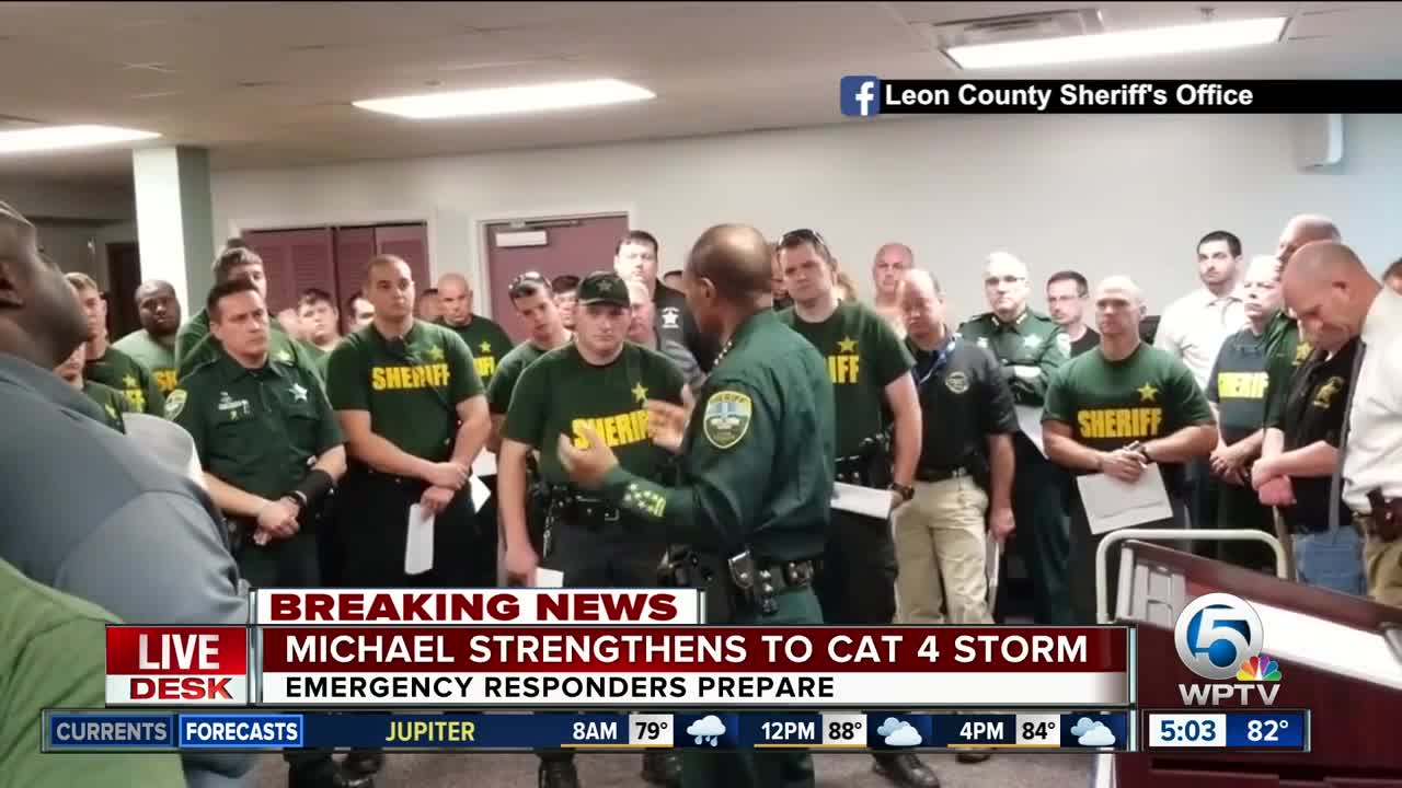 Leon County Sheriff's Office prays ahead of Hurricane Michael