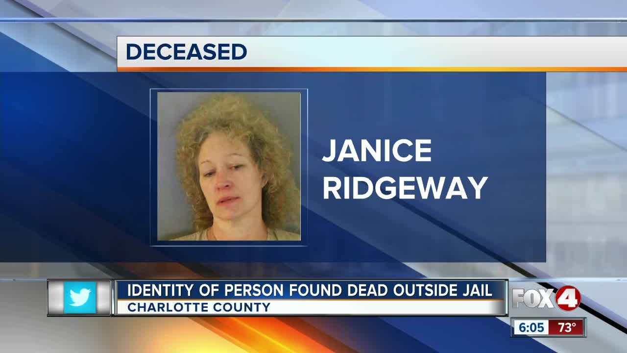 Woman found dead outside Charlotte County jail identified
