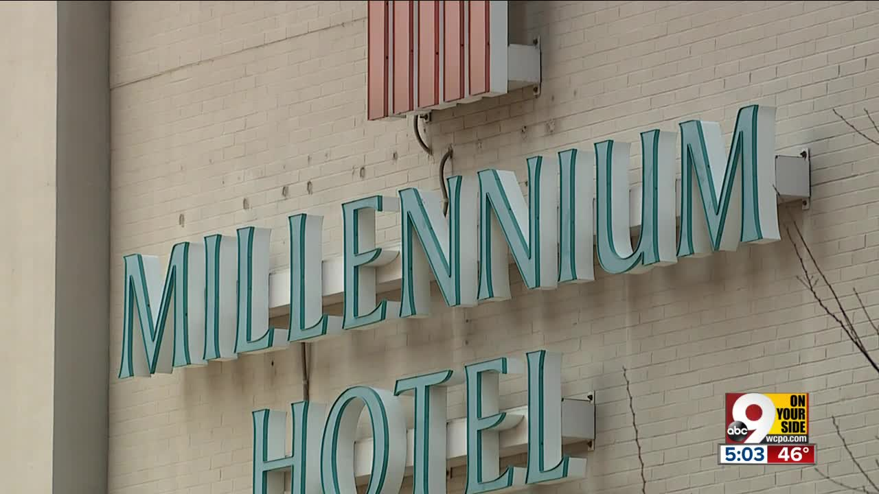 County agrees to finance purchase and demolition of Millennium Hotel