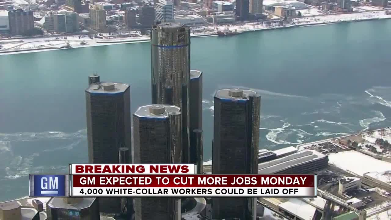 General Motors expected to cut 4,000 white-collar jobs Monday