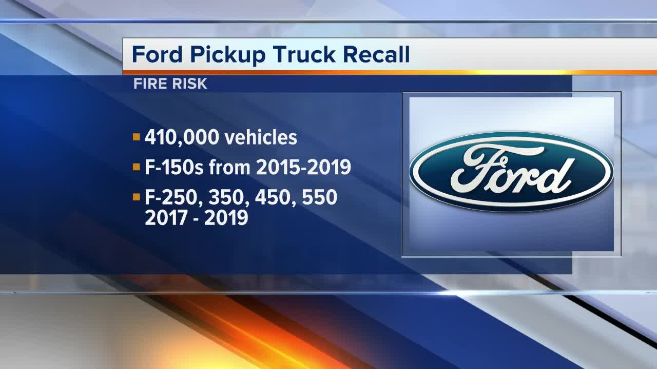 Fire risk forces Ford to recall more than 410K F-Series