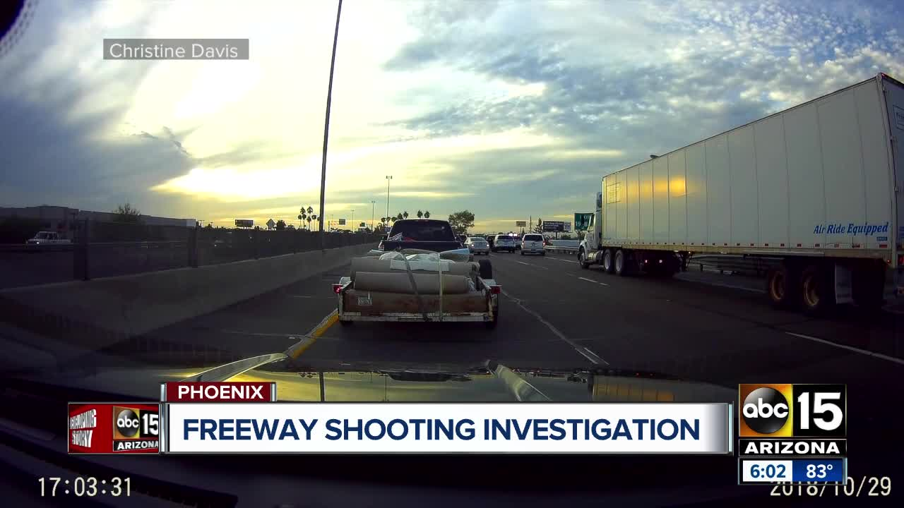 Map Of Arizona Freeway Shootings.Police Id Suspect Shot And Killed After Pursuit That Ended On I 17