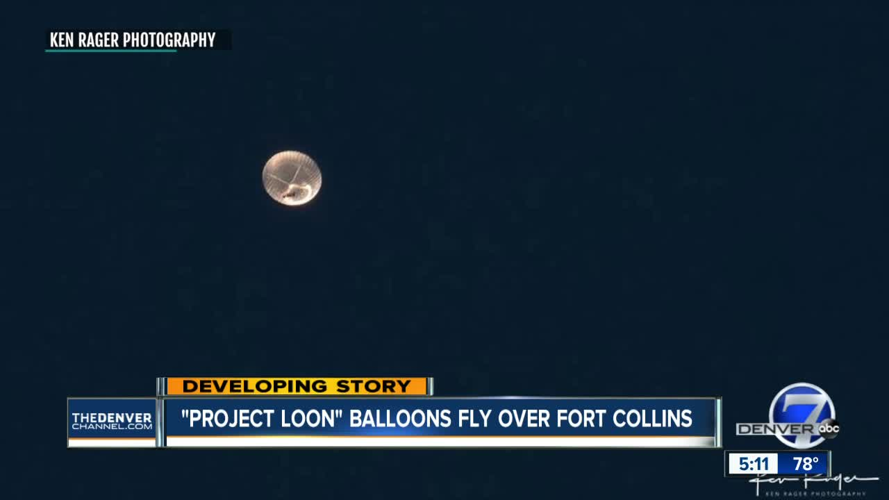 White Lights In The Sky Over Fort Collins Turn Out To Be Google S Project Loon Balloon