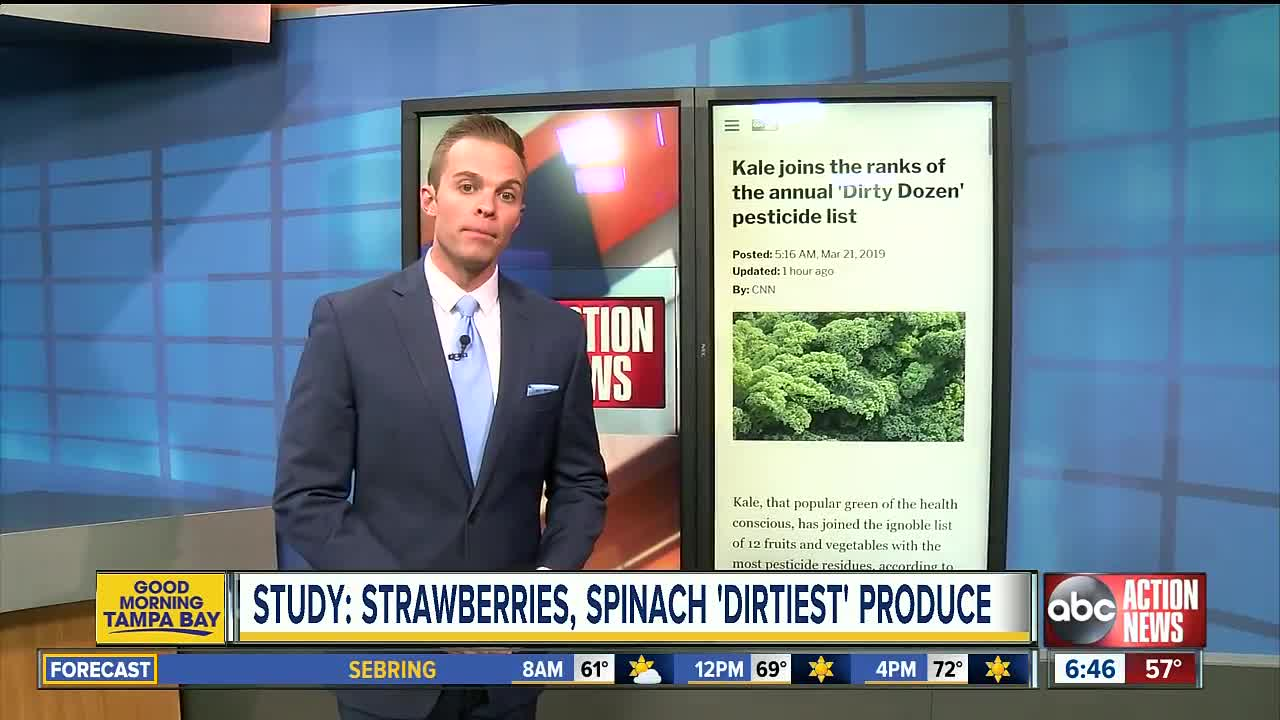 Kale, strawberries, spinach top 'Dirty Dozen' list for pesticide contamination