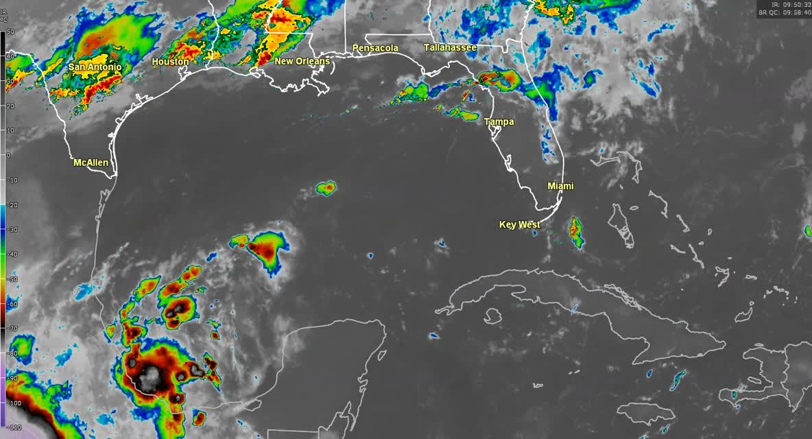 Tropical storm warnings issued for Gulf Coast states as weather system strengthens
