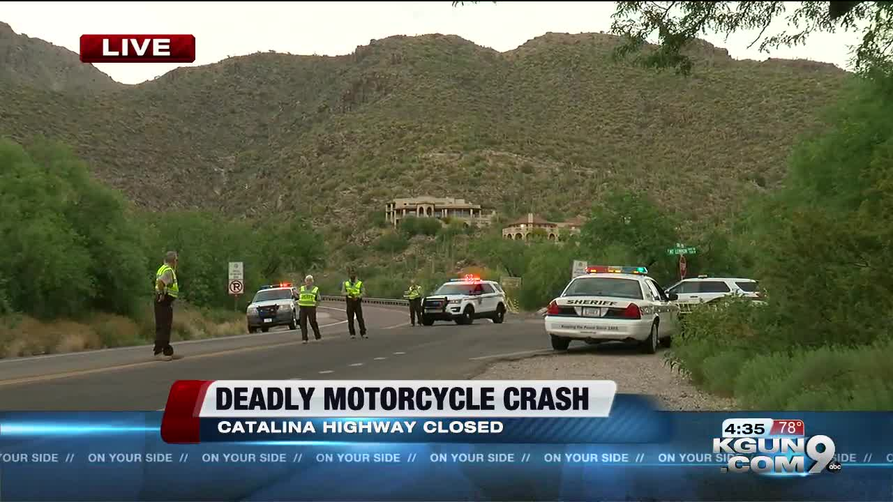 Catalina Highway reopens after fatal collision