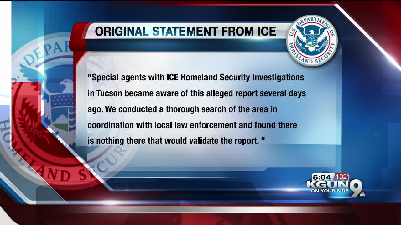 ICE confirms Tucson police statement