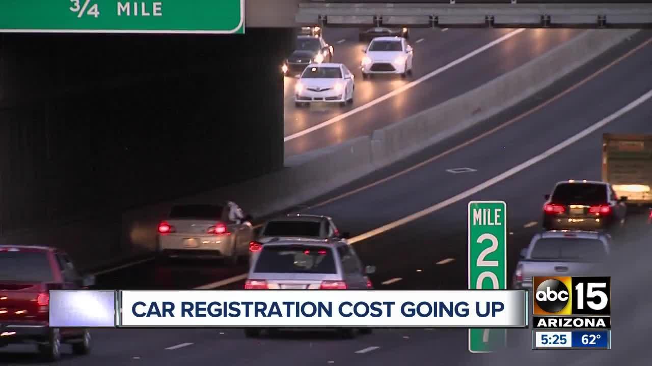 Arizona vehicle registration cost going up with new Public Safety Fee - ABC15 Arizona
