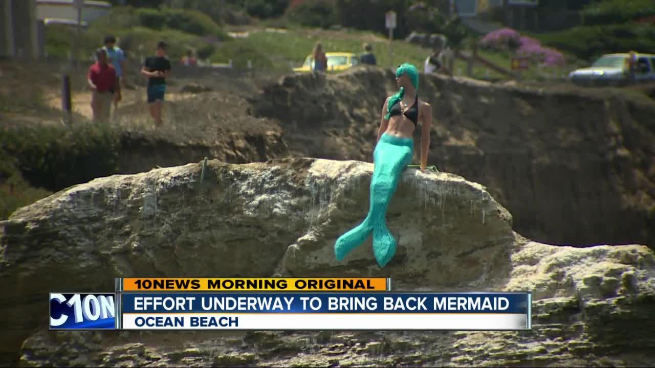Effort underway to bring mermaid statue back to Ocean Beach