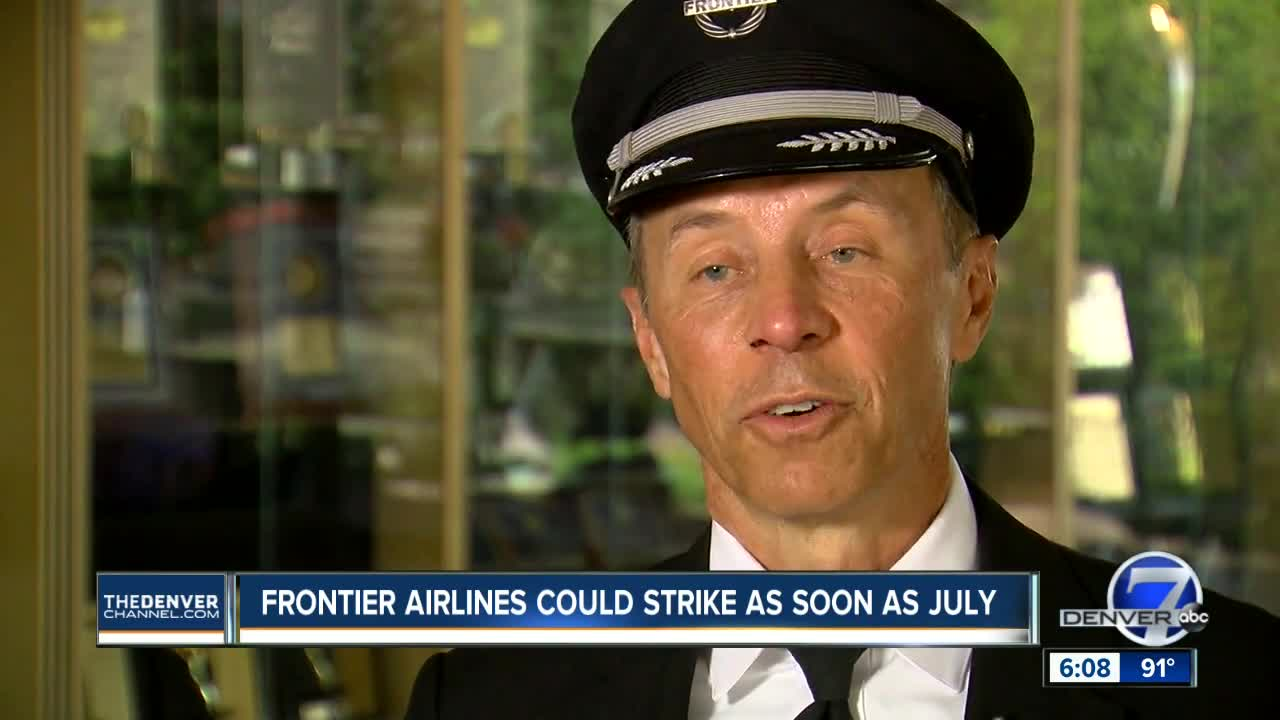 Summer strike threat looms at Frontier Airlines