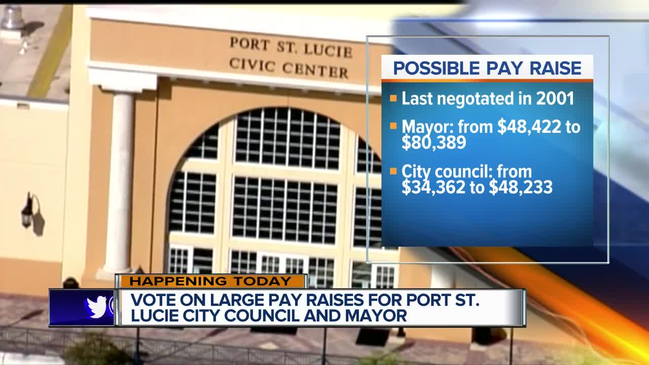 Port St Lucie Council Approves Pay Raise For Themselves Mayor
