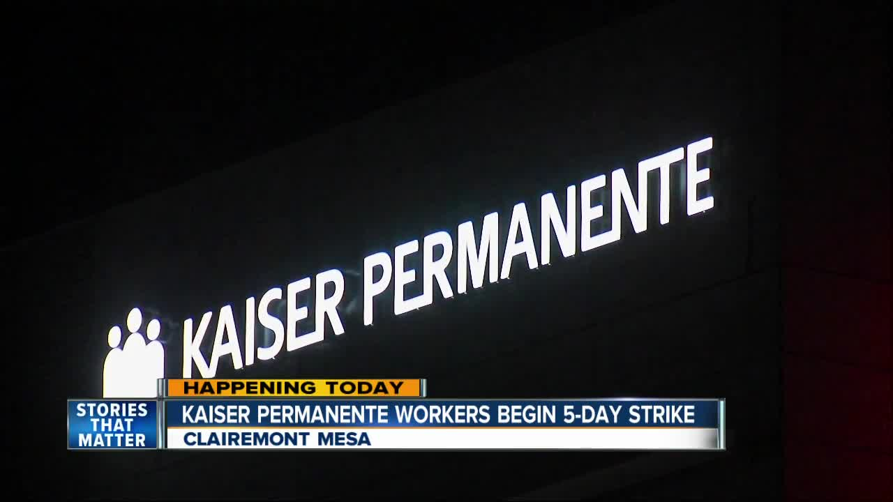 Kaiser Permanente mental health workers begin five-day strike