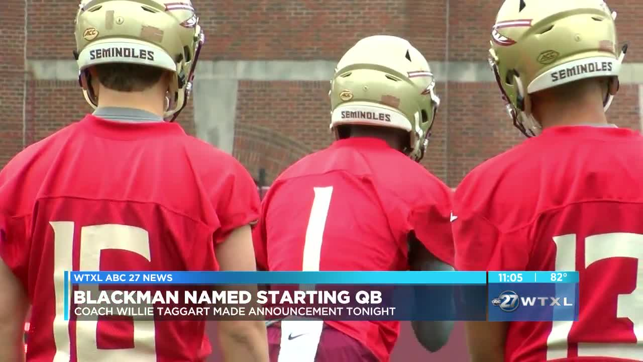 FSU names Blackman starting QB over Hornibrook