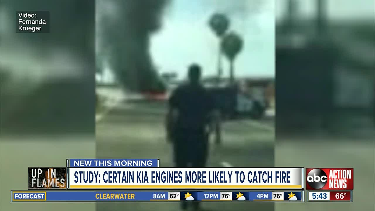Study: Certain Kia and Hyundai engines more likely to catch fire