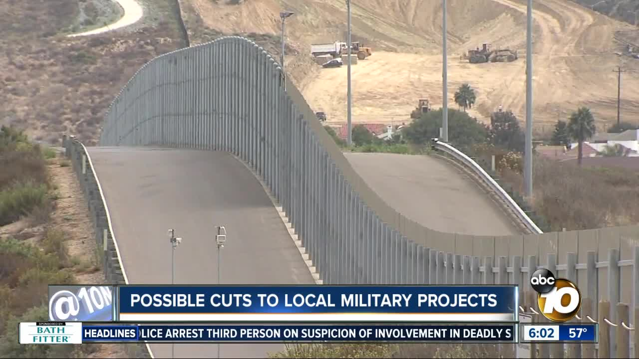 Pentagon lists projects possibly affected due to Trump's wall plan