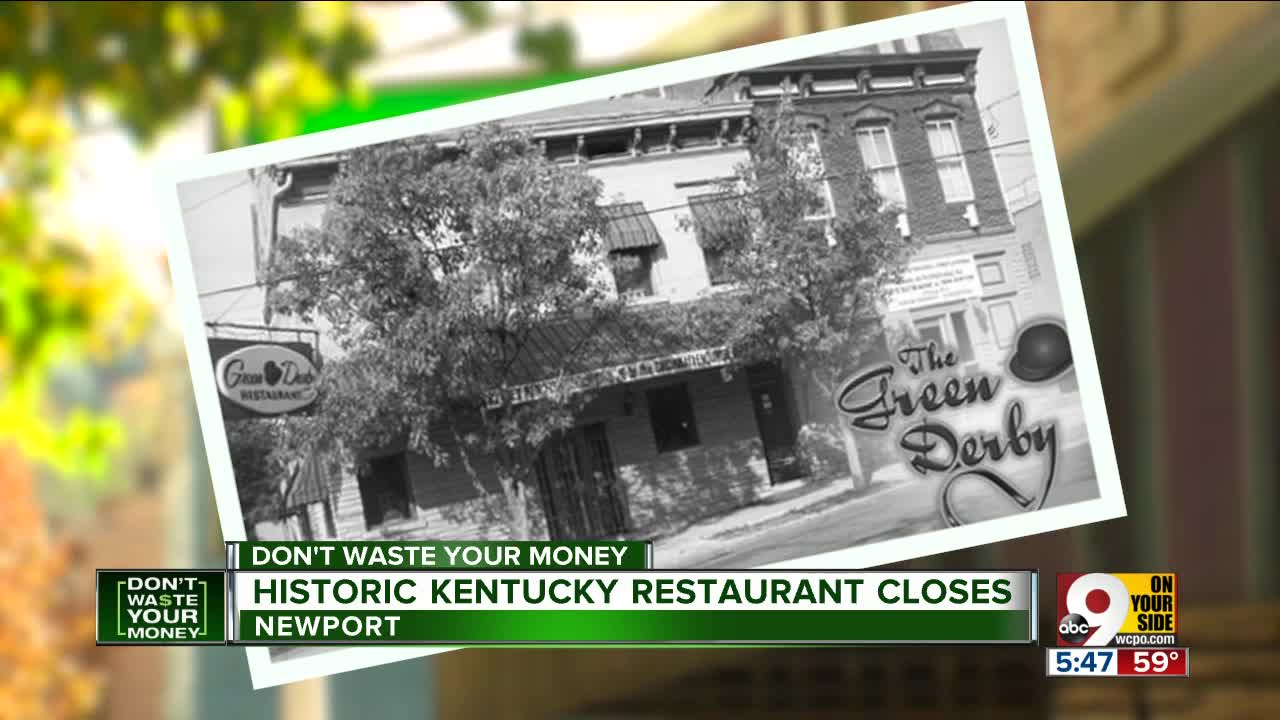 Historic Green Derby Restaurant Closes Suddenly