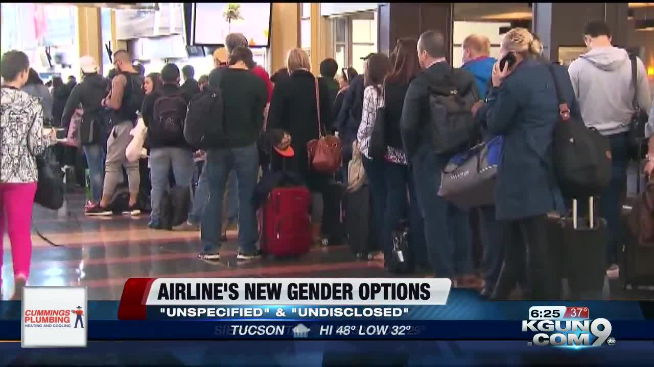 Airlines to offer new gender options