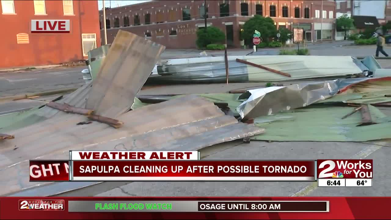 Sapulpa hit by possible tornado, storms cause damage across