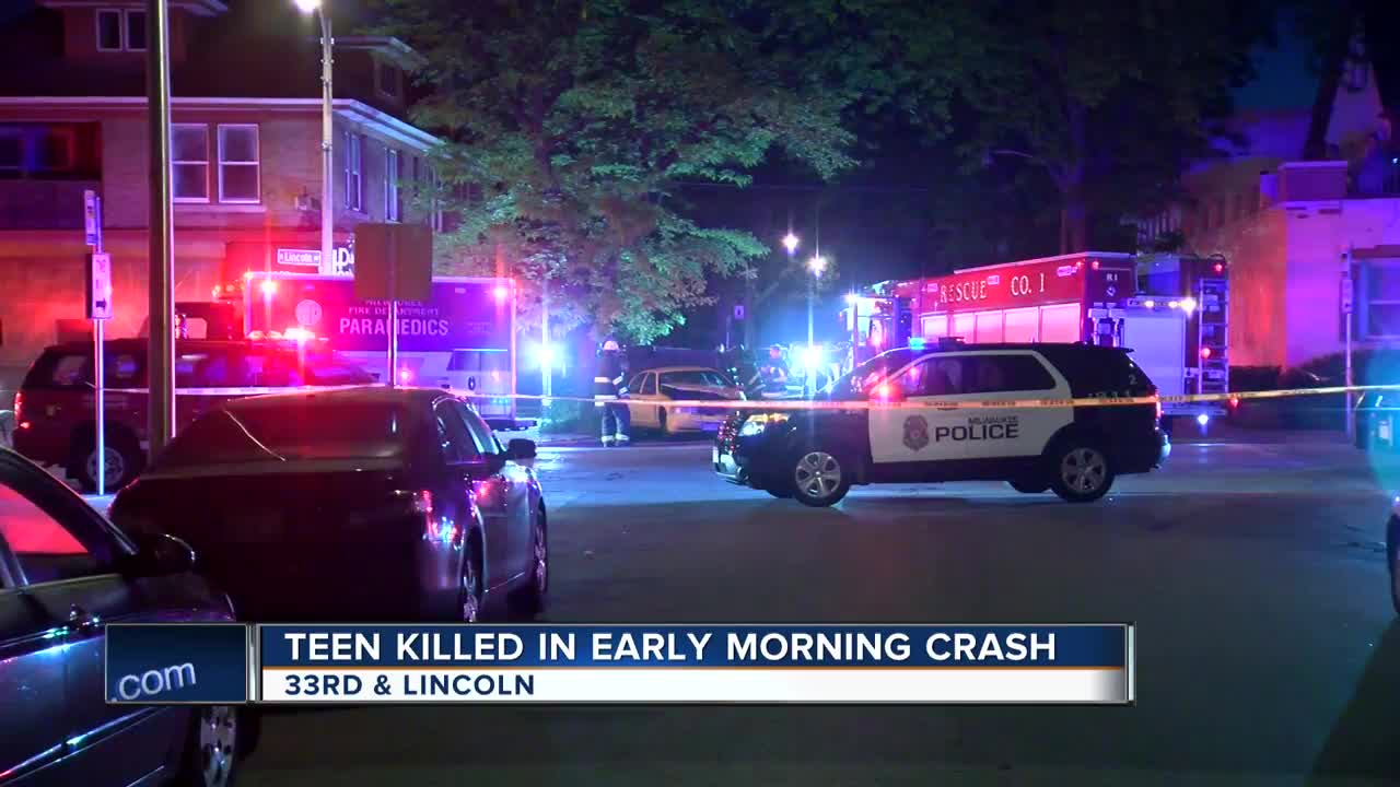 18-year-old man dies in crash at 33rd and Lincoln