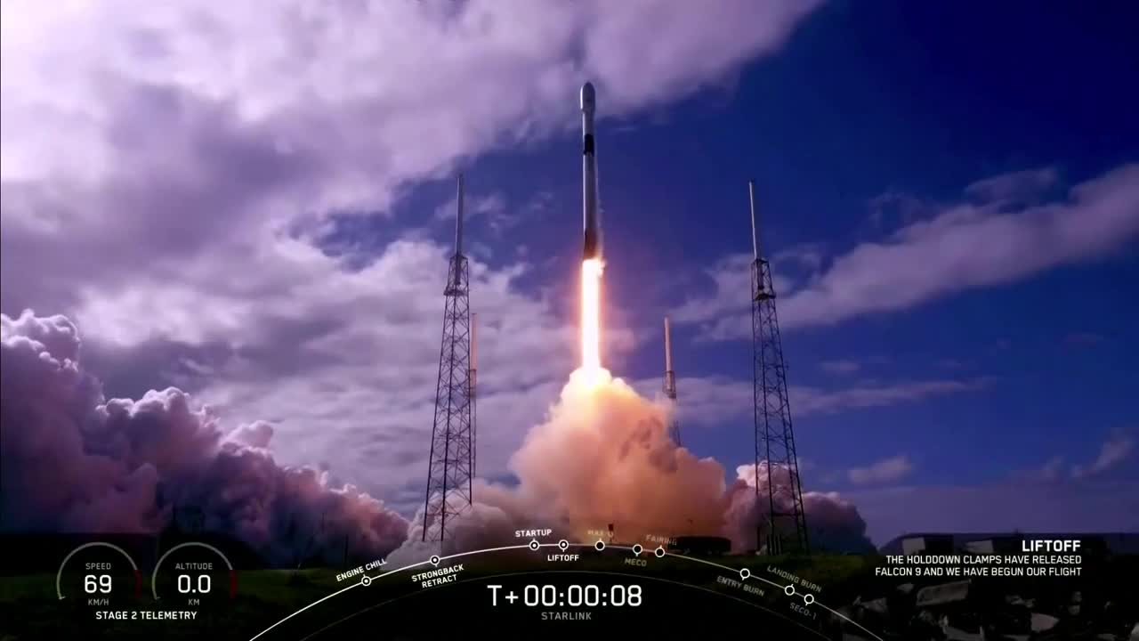 SpaceX Starlink Mission Launch