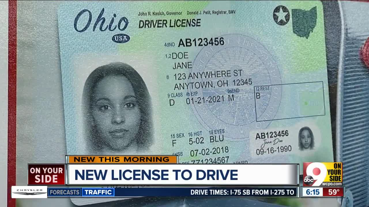 Issuing Driver In July Start New Ohio Licenses To 'compliant' Bmv