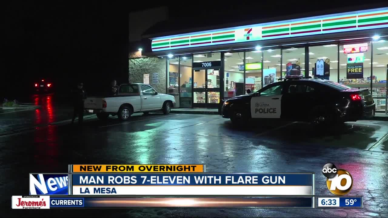 A 7 Eleven Clerk Said A Man Threatened Him With A Flare Gun During A  Robbery At The University Ave. Store In La Mesa.