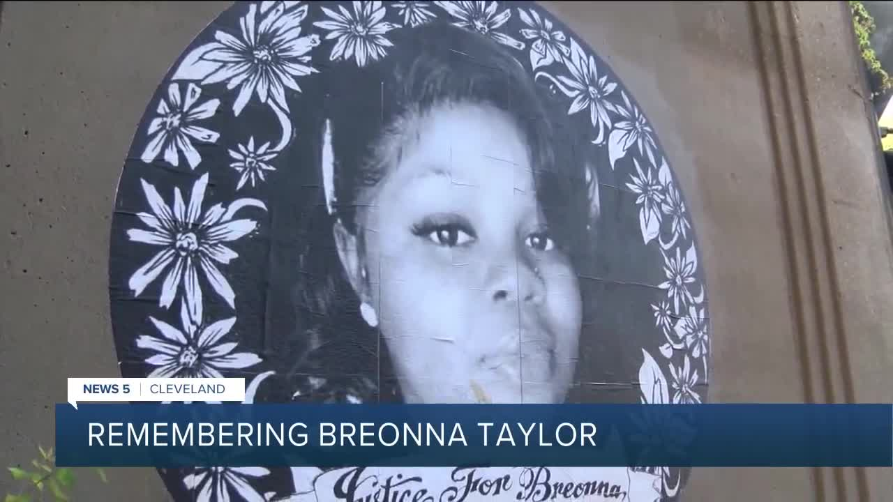 Vigil Held In Cleveland To Honor Life Of Breonna Taylor Who Was Killed By Police