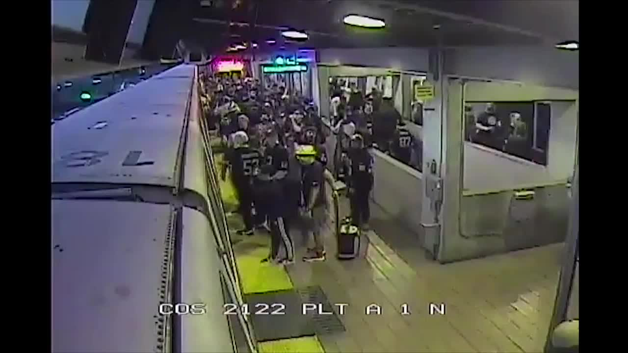 Transit employee saves man from oncoming train