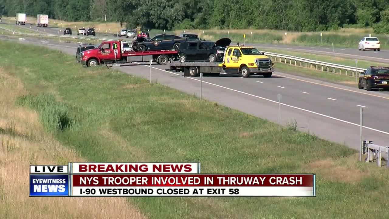 Man in critical condition after trooper-involved crash on