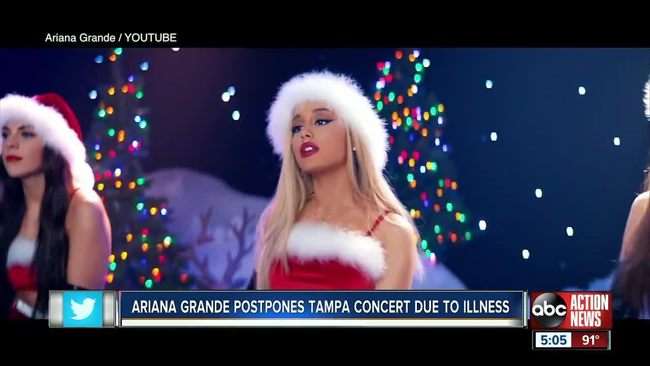 Ariana Grande postpones Tampa and Orlando concerts