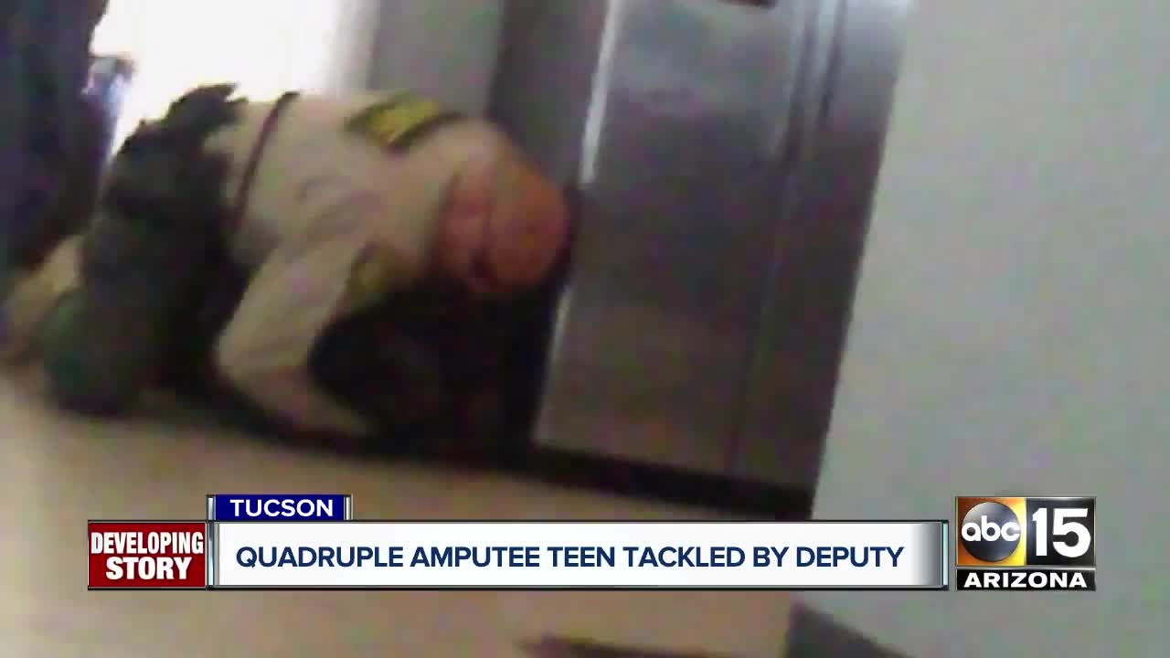 Arizona officer caught on video pinning quadruple amputee, 15, to ground
