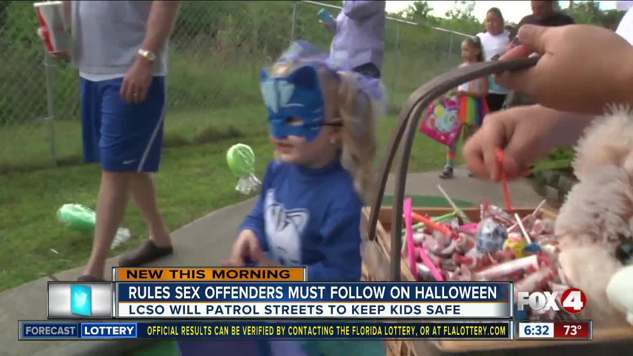 halloween rules for sex offenders in florida in Topeka