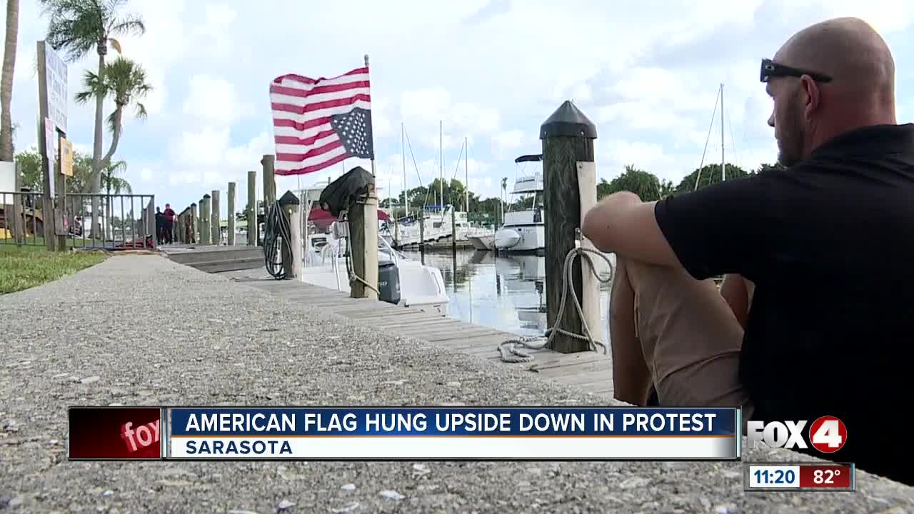 Veteran Flies American Flag Upside Down To Signal Distress For