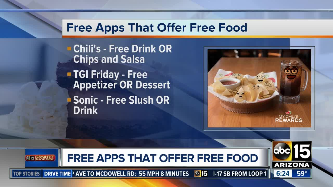 Download these apps and get free food and dessert!
