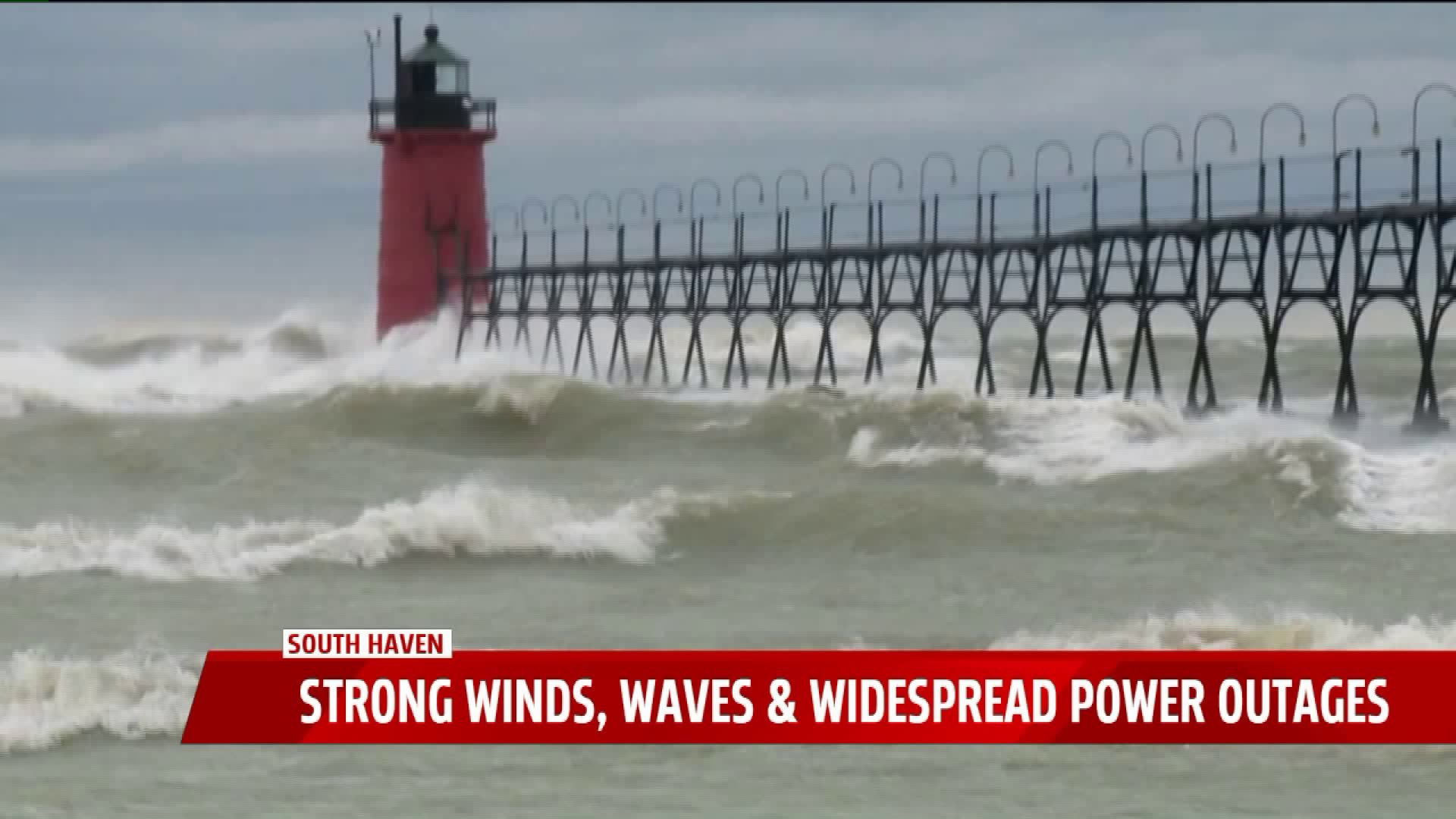 60 Mph Winds Causing 15 Foot Waves On