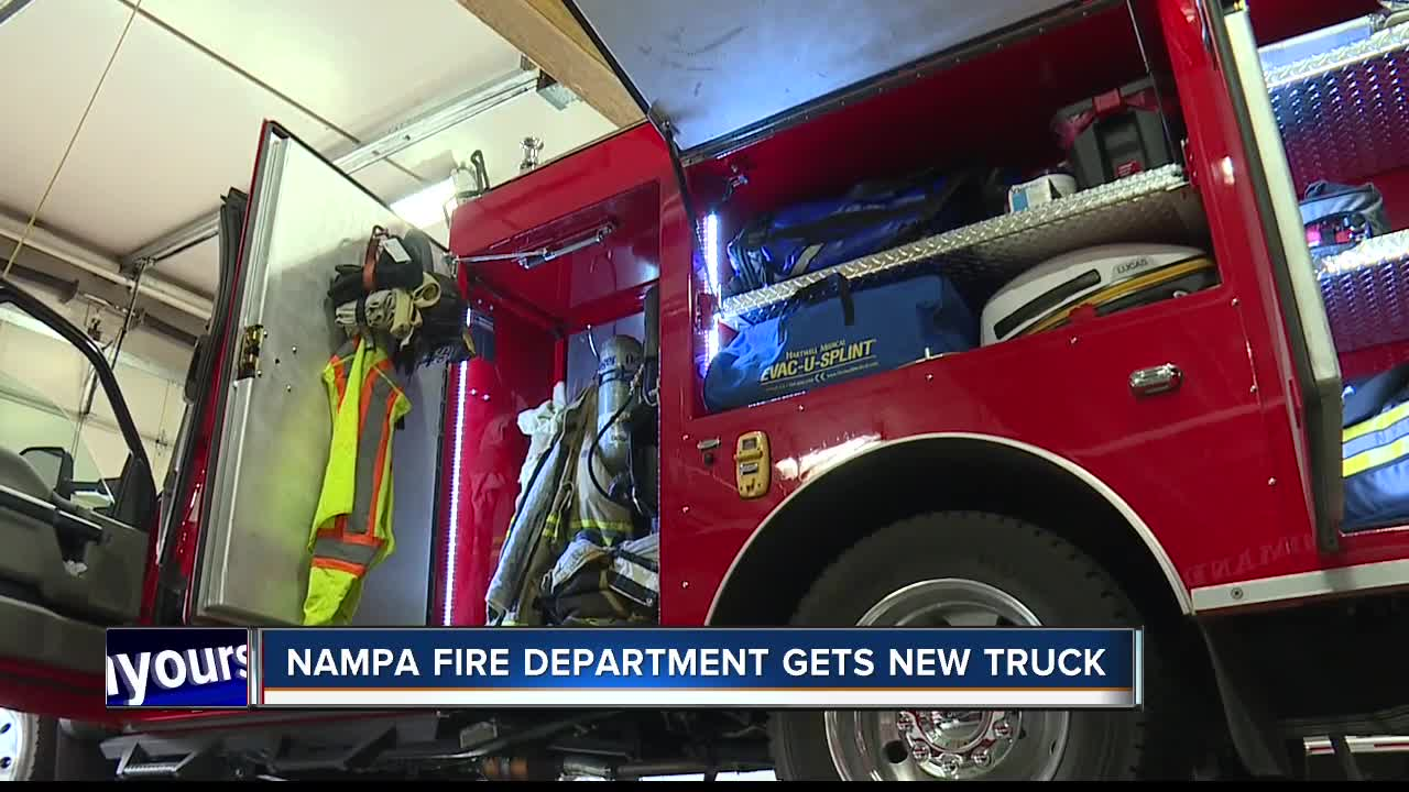 Nampa Fire Department Gets A New Truck