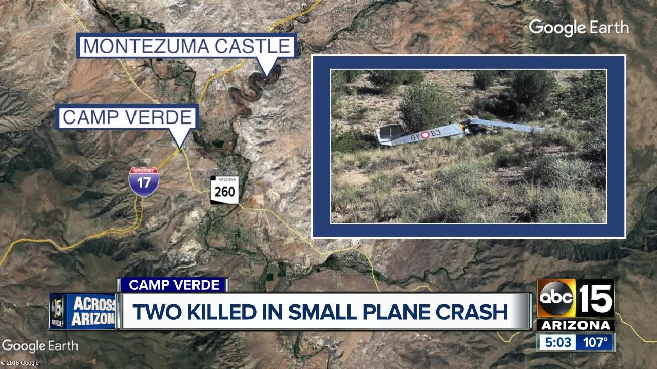 Two dead in Camp Verde plane crash, plane was missing for hours