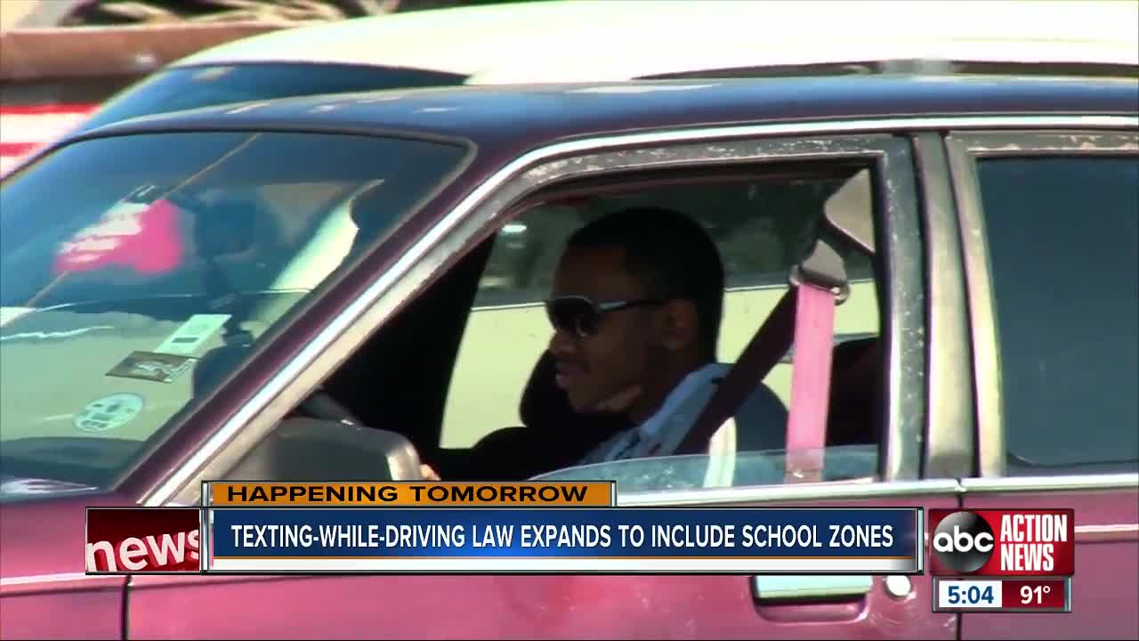 Using your phone in school zones can cost you starting Tuesday