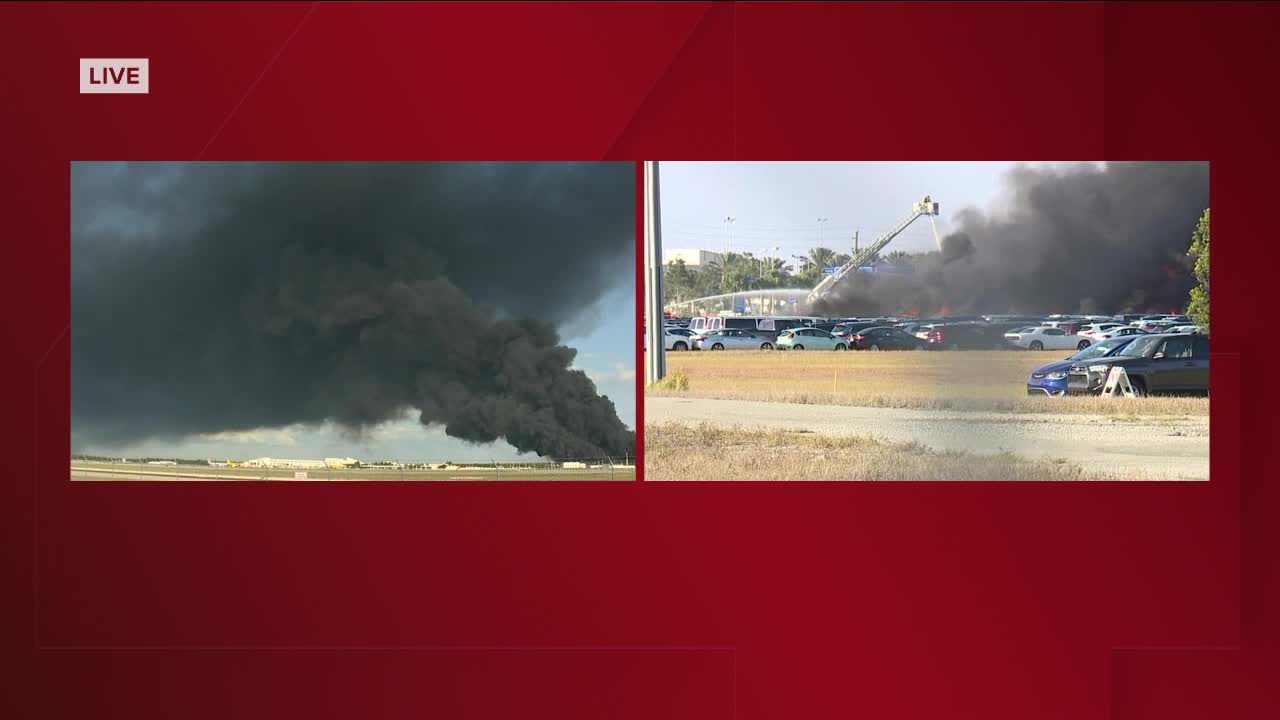 Fire near southwest Florida airport burns 3,500 rental cars