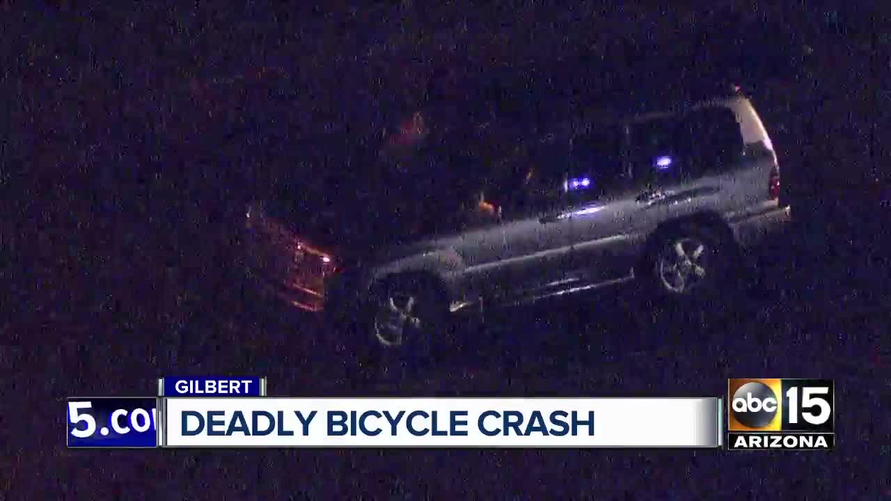 deadly crash between a car and bike in gilbert being investigated
