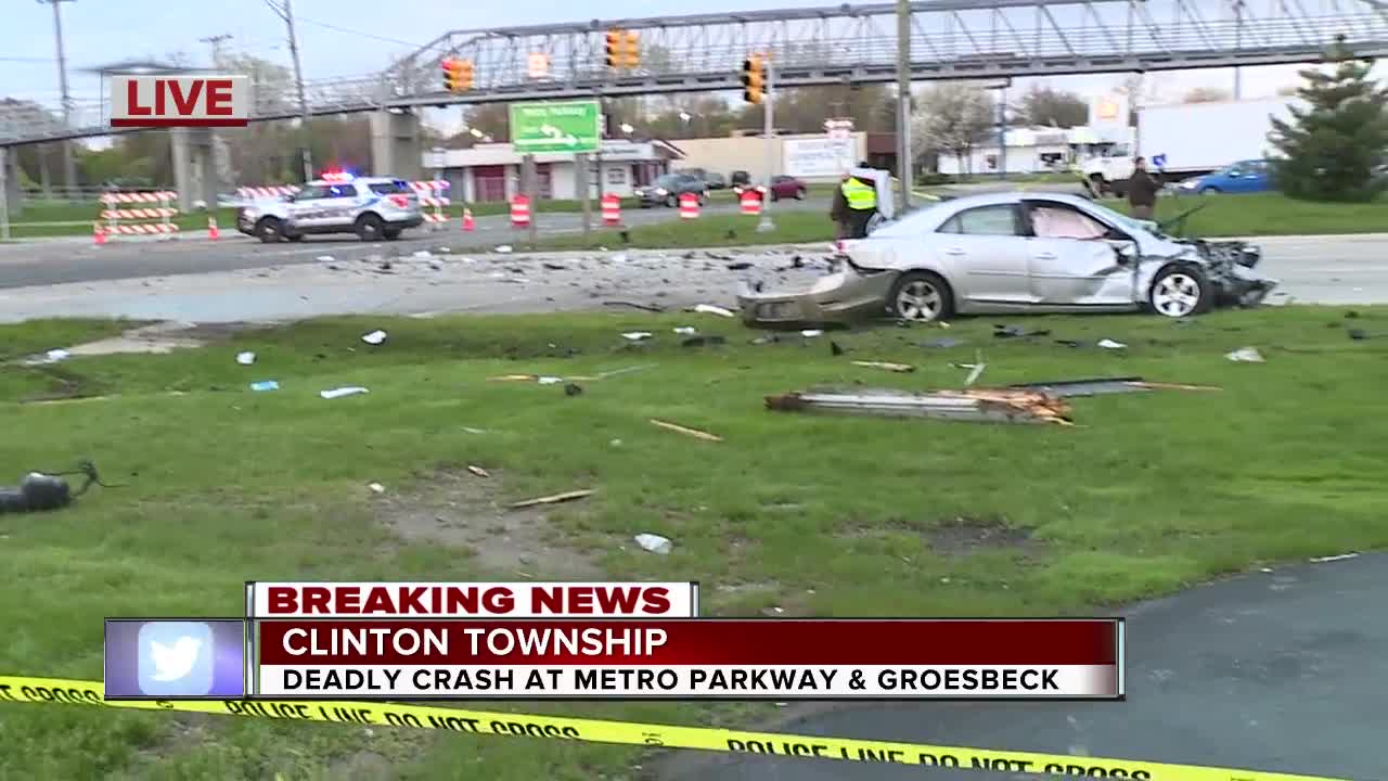 Road blocked off following fatal crash on Metro Parkway in Clinton