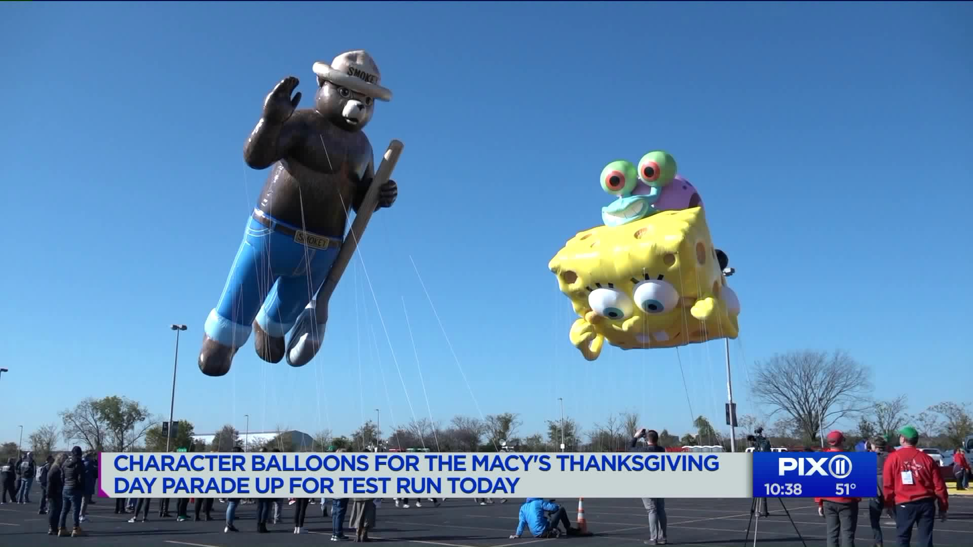 Macy S Thanksgiving Parade Balloons Go For Test Flight In Nj