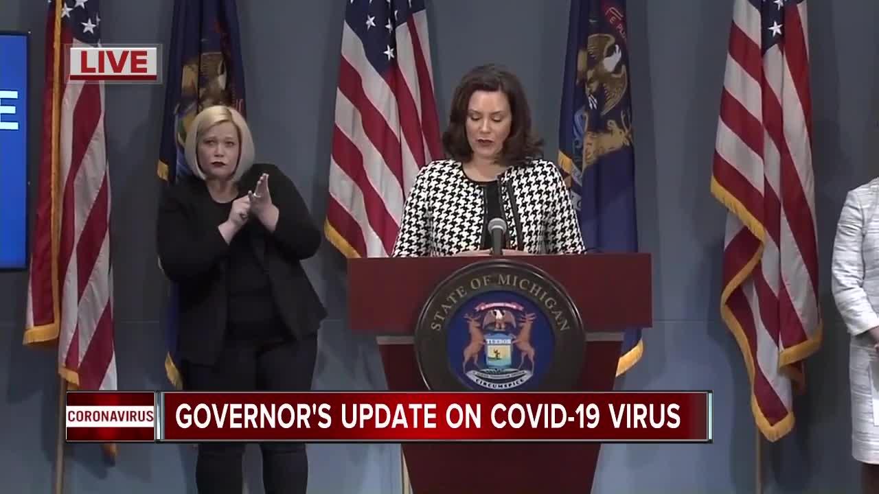 Watch Gov Whitmer Updates State S Response To Covid 19