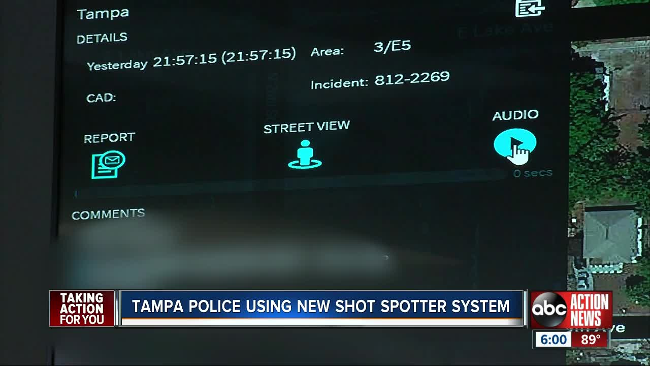 Technology Tracks Sound Of Gunshots Goes Live In Tampa