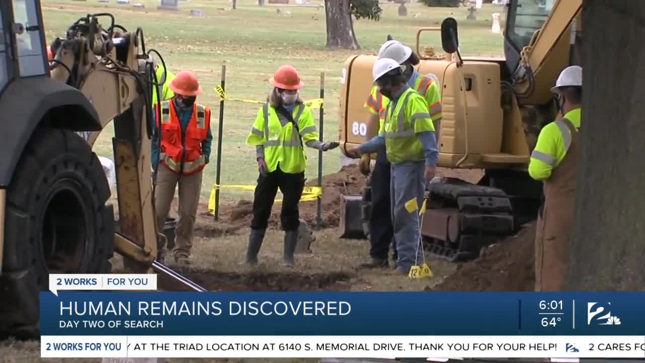 Remains found in Tulsa search for 1921 race massacre victims