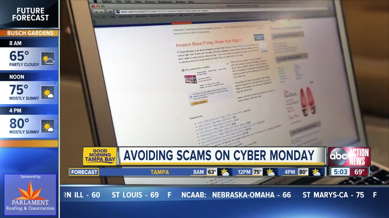 Don't get cyber scammed on Cyber Monday!
