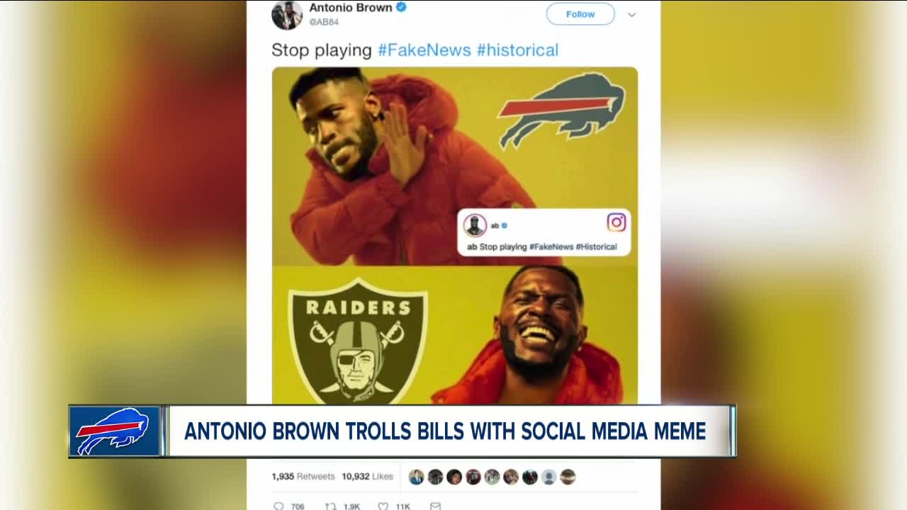 Raiders' Antonio Brown Savagely Trolls Bills In Latest Instagram Post