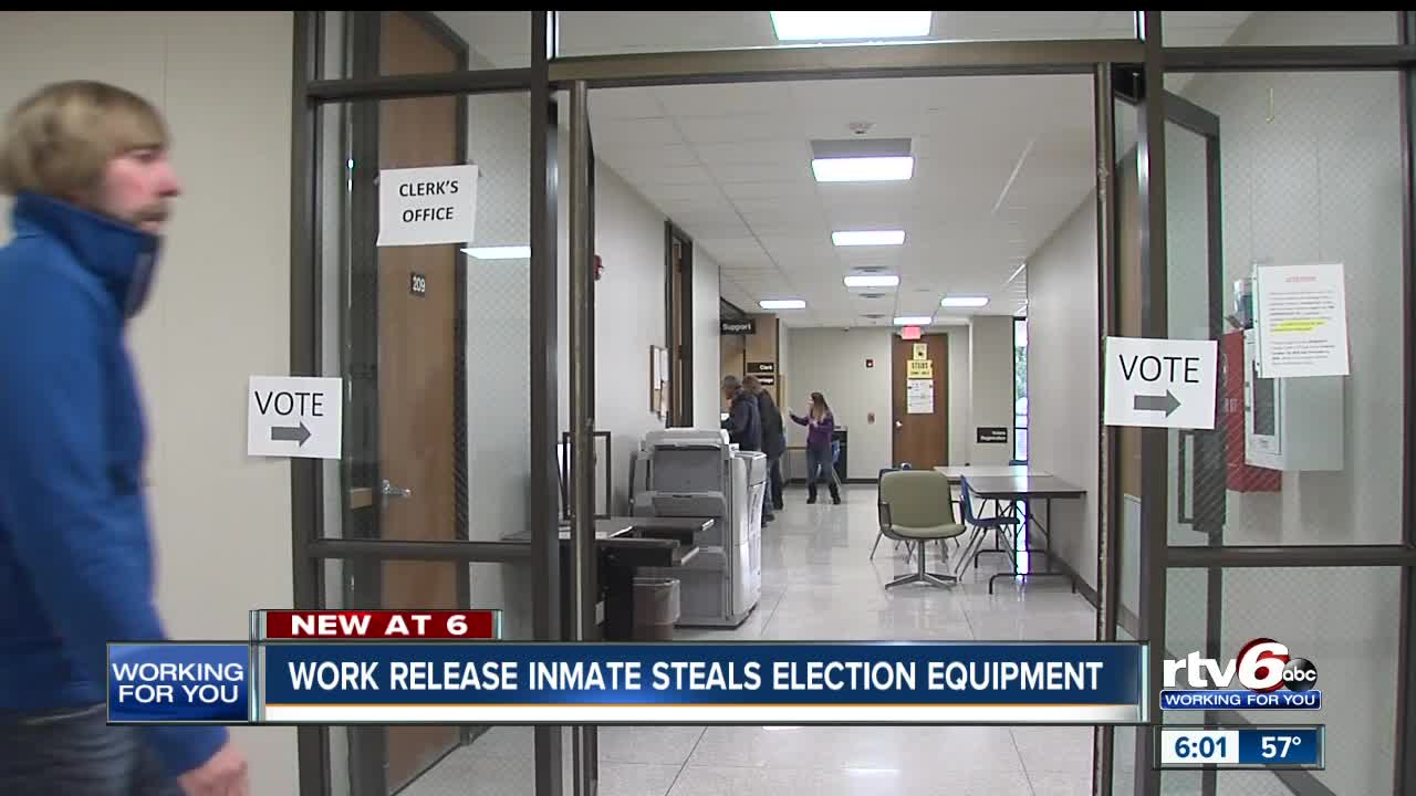 Inmate On Work Release Accused Of Stealing Election Equipment In Anderson