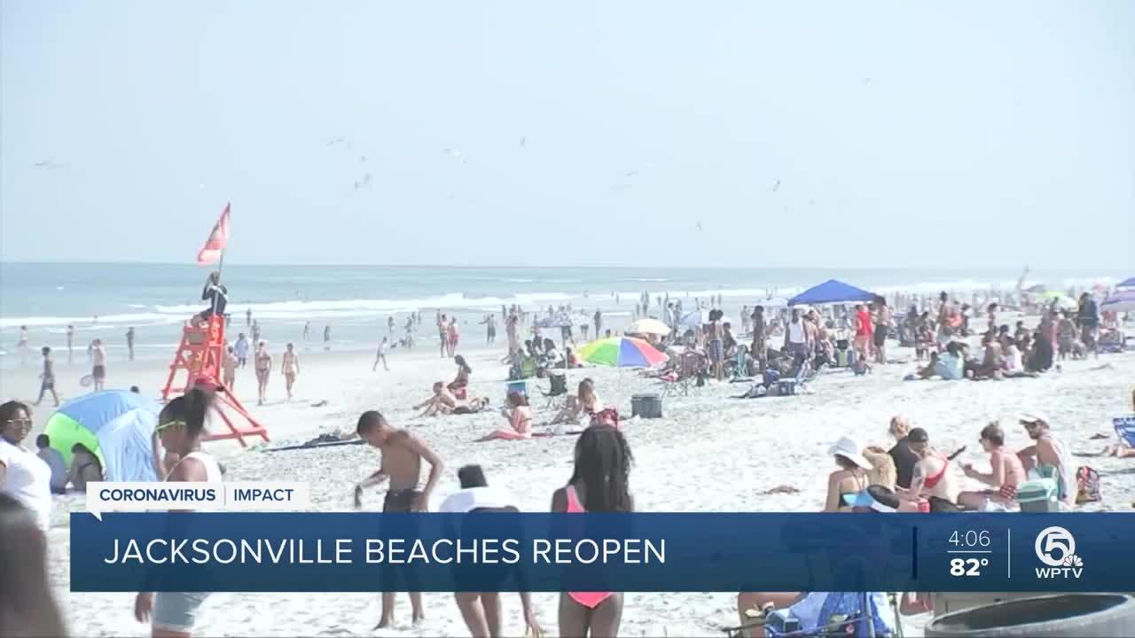 Coronavirus outbreak: Beaches in Jacksonville, Florida reopen amid COVID-19 pandemic