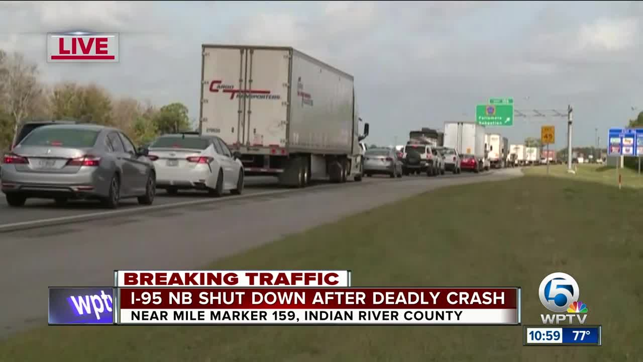 All I-95 northbound lanes reopen in Indian River County after deadly